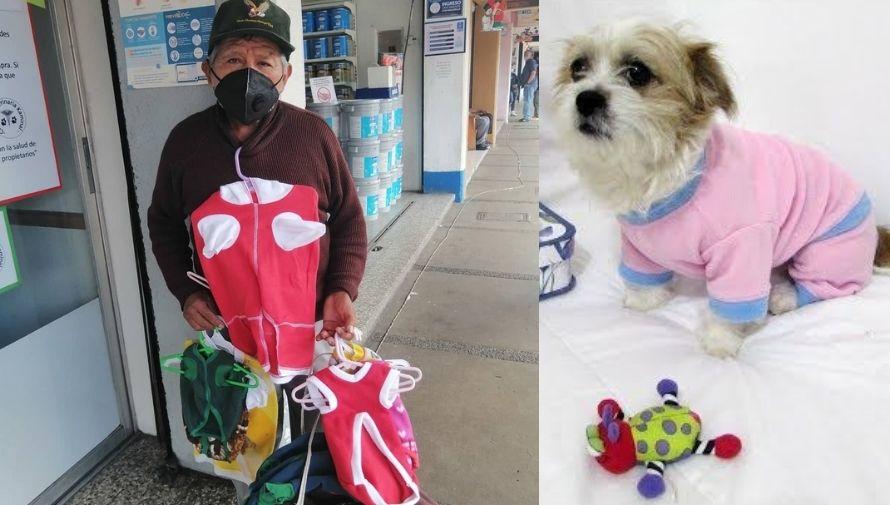 Francisco Zamora, el abuelito emprendedor que vende ropa para mascotas en los mercados