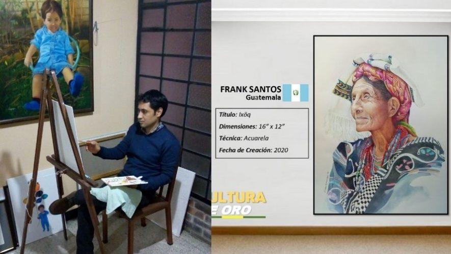 Frank Santos, el artista guatemalteco que fue finalista en concurso latinoamericano