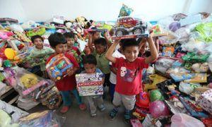 Iniciativa recauda regalos de Navidad para niños de Cobán - Foto Al Poniente