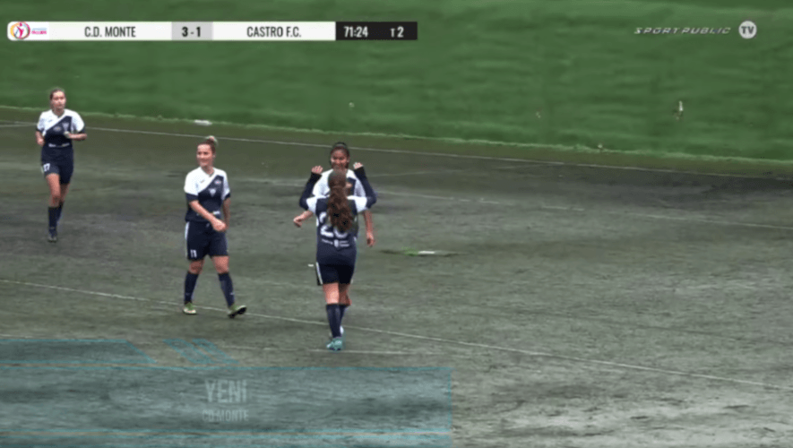 Jenifer Ortiz anotó doblete en la victoria del CD Monte Féminas contra el Castro F.C. 1