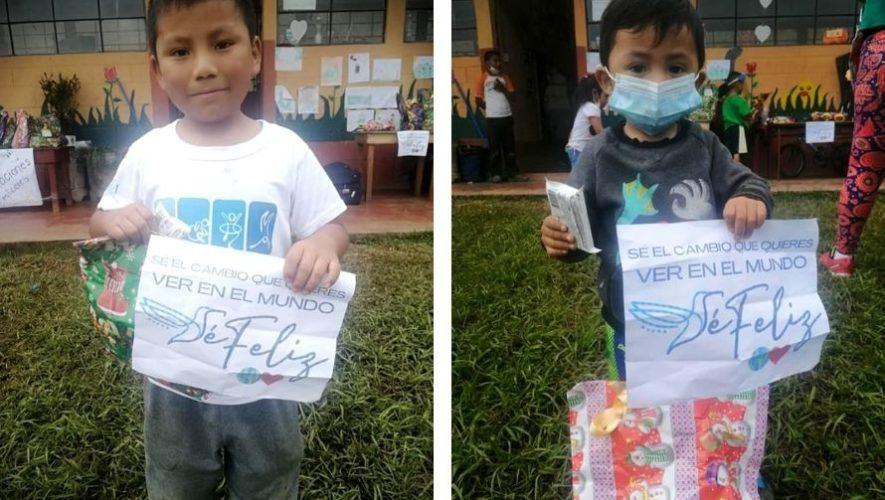 Jóvenes voluntarios guatemaltecos donaron juguetes a niños en albergue de Alta Verapaz