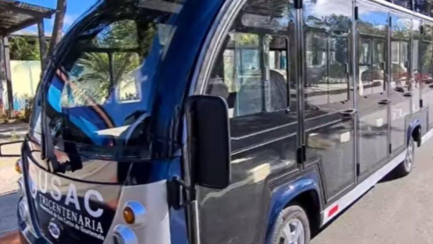 Los buses eléctricos que implementará la USAC en el 2021 para transportar a estudiantes