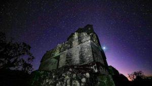 Observación de la conjunción entre Júpiter y Saturno en Tikal | Diciembre 2020