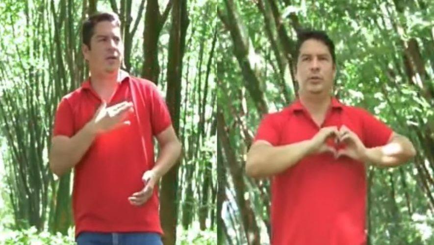Oscar Santizo, profesor de Retalhuleu realizó vídeo de Luna de Xelajú en lengua de señas