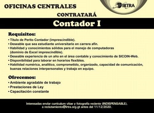 convocatoria-trabajo-contador-oficinas-centrales-irtra-beneficios-curriculum-donde-presentar-informacion
