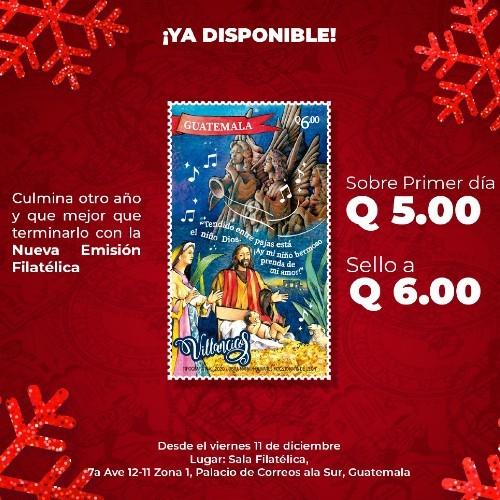 correos-guatemala-presento-emision-sellos-postales-navidad-2020-villancicos-ubicacion-donde-comprar-sala-filatelica