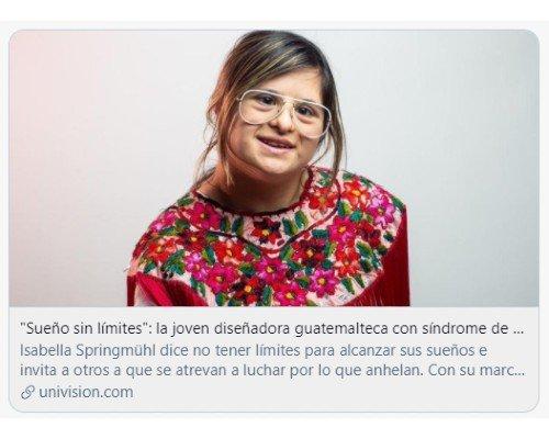 disenadora-guatemalteca-isabella-springmuhl-destaco-reportaje-univision-sueño-limites-originaria-trabajo-marca-ropa-mujeres