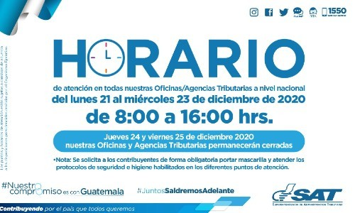 horarios-atencion-sat-guatemala-para-fin-ano-2020