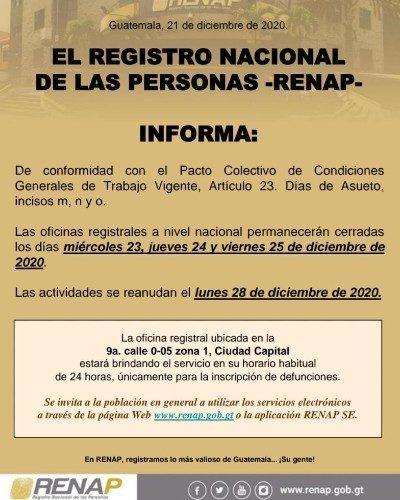 horarios-renap-durante-fiestas-fin-ano-2020-guatemala