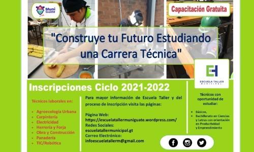 inscripciones-abiertas-carreras-cursos-gratis-municipalidad-guatemala-2021-taller-escuela