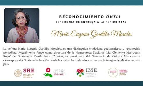 maria-eugenia-gordillo-periodista-guatemalteca-reconocida-mexico-labor-medalla-ohtli