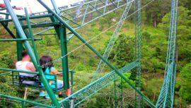 El columpio gigante ubicado en el Eco Muro Olopa en Chiquimula