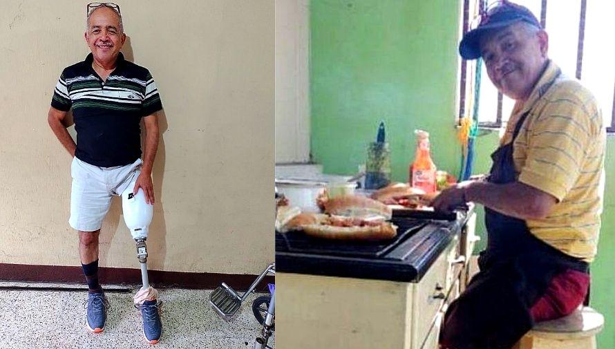 Don Sergio, abuelito que vendía comida para comprar su prótesis logró recolectar todos los fondos