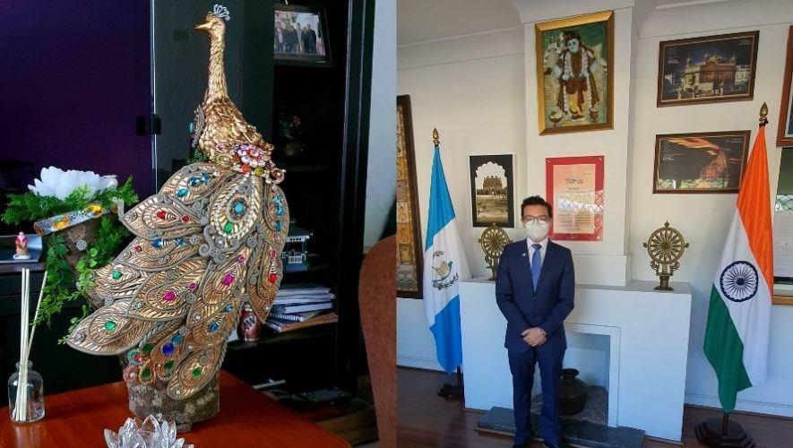Escultor guatemalteco Daniel Rivera presentó escultura del Ave Nacional de la India