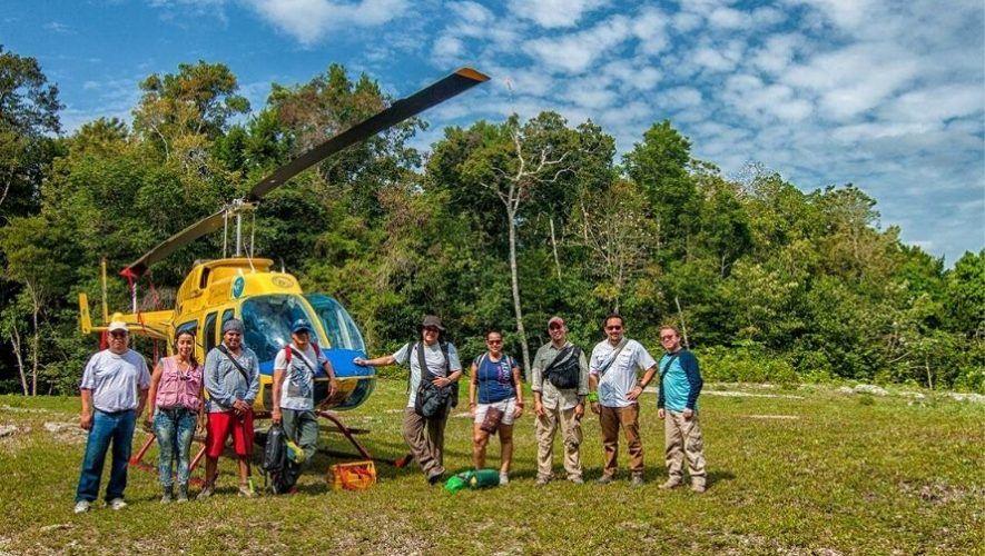 Viaje y expedición en helicóptero a El Mirador en Petén | Enero 2021