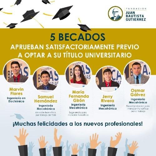 becados-fundacion-juan-bautista-gutierrez-concluyeron-carrera-universitaria-menciones-honorificas-trabajo-graduacion-tesis