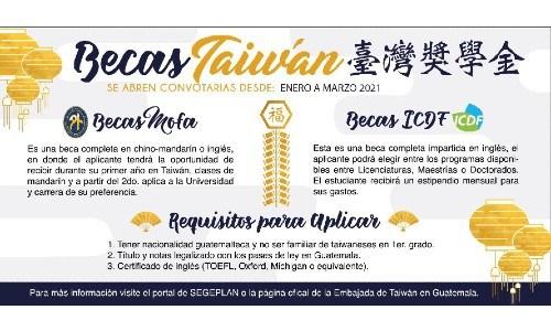 convocatoria-becas-mofa-taiwan-guatemaltecos-2021-republica-china