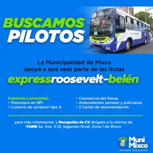 convocatoria-trabajo-pilotos-rutas-express-mixco-requisitos-papeleria