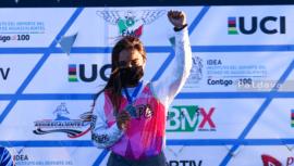 Andrea González ganó primer lugar en la primera Copa Nacional de BMX 2021 en éxico fb