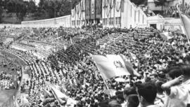 Así fue la inauguración del Estadio Doroteo Guamuch Flores en 1950