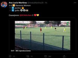 Descripción de foto - tweet de Ana Lucía Martínez decribiendo el marcaje de goles y puntos de la temporada. - Crédito de foto - Guatemala. com