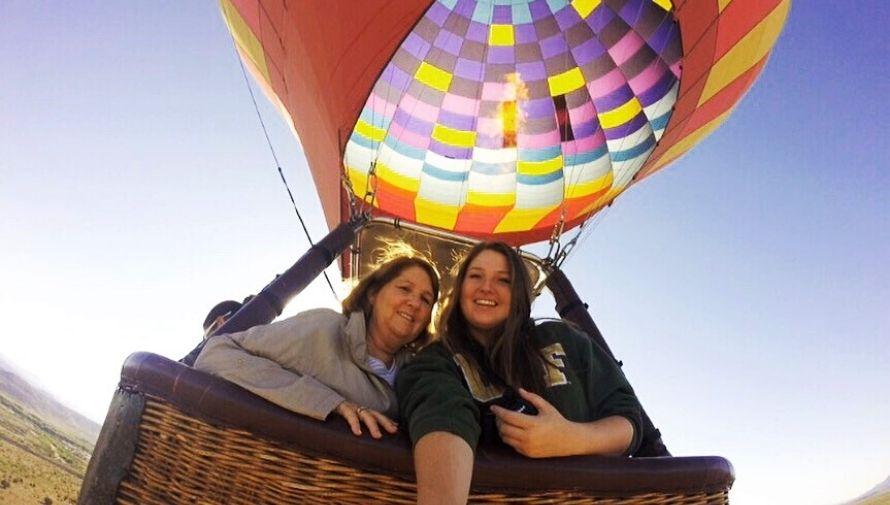 Elevaciones en globo aerostático cerca de la Ciudad de Guatemala Febrero 2021