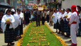 Alfombra de peras de San Bartolomé Milpas Altas