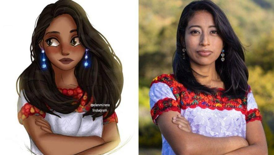 artista-quetzalteca-elena-minera-ilustro-maria-mercedes-coroy-estilo-disney