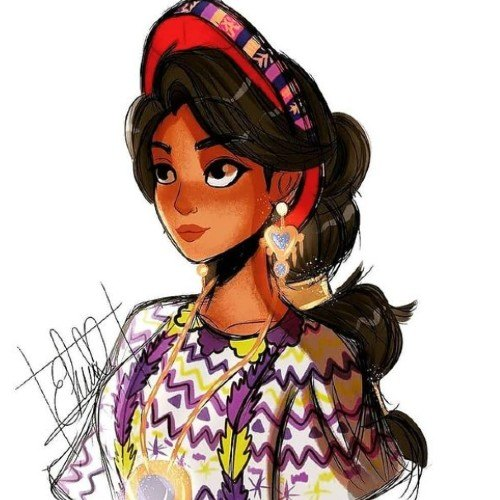 artista-quetzalteca-elena-minera-ilustro-maria-mercedes-coroy-estilo-disney-talento-instagram