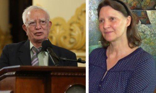 guatemaltecos-fueron-galardonados-con-la-orden-nacional-del-patrimonio-cultural-2021-Miguel Orrego y Christa Schieber