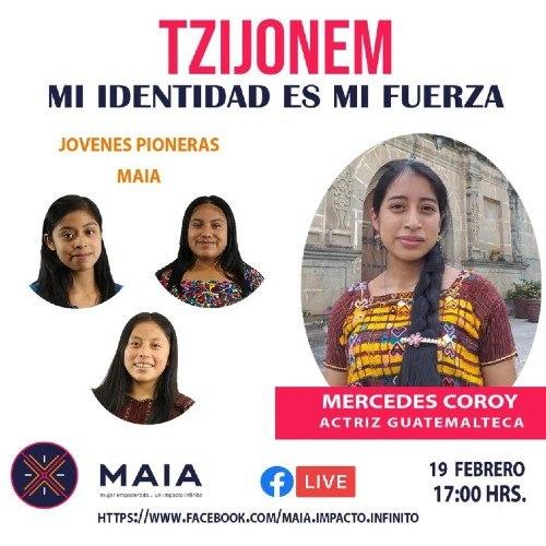 maria-mercedes-coroy-compartio-jovenes-pioneras-asociacion-maia conversatorio virtual Tzijonem
