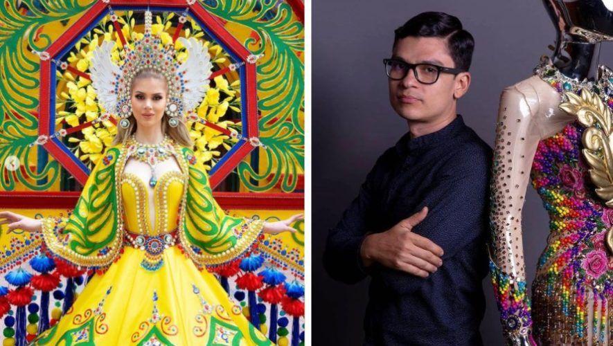 El zacapaneco César Alejandro Portillo diseñó el traje Xecul Occidental que usará Ivana Batchelor