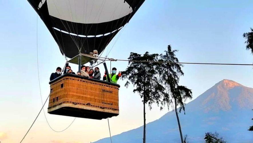 Elevaciones en globo aerostático en Auto Safari Chapín   Abril 2021