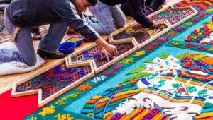 Exposición de alfombras de Semana Santa en Antigua Guatemala | Marzo 2021