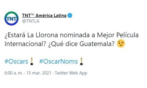 La Llorona, primera película guatemalteca entre los finalistas por una nominación a los Premios Óscars 2021 TNT America latina