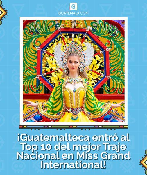 La quetzalteca Ivana Batchelor entre las 10 finalistas del traje nacional del Miss Grand International