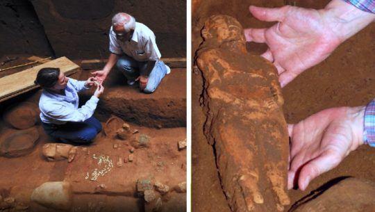 Las muñecas de barro que fueron encontradas en el entierro maya más antiguo de Mesoamérica
