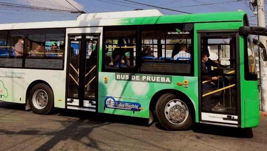 Transmetro busca implementar buses eléctricos para dos rutas de la Ciudad de Guatemala