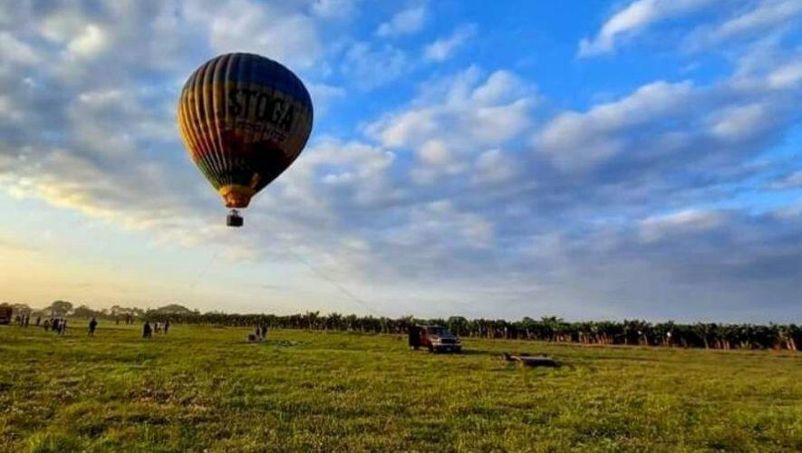 Viaje y elevación anclada en globo aerostático, Escuintla | Marzo 2021