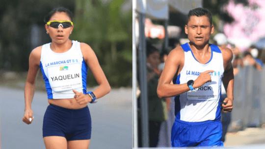 Yaqueline Teletor y Erick Barrondo brillaron en el Campeonato Nacional de Marcha 2021