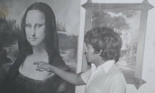 maestro Fabian Mellado Díaz Ipala pintura monalisa