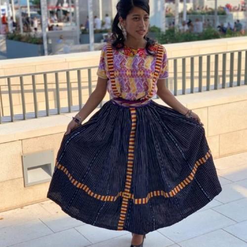 maria-mercedes-coroy-porto-traje-regional-quiche-gala-golden-globes 2021-traje-quetzaltenango