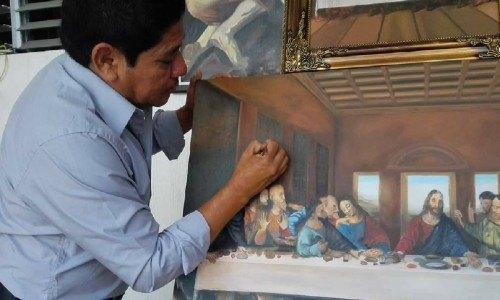 mario Fabian Mellado Díaz Ipala pinturas maestro artista