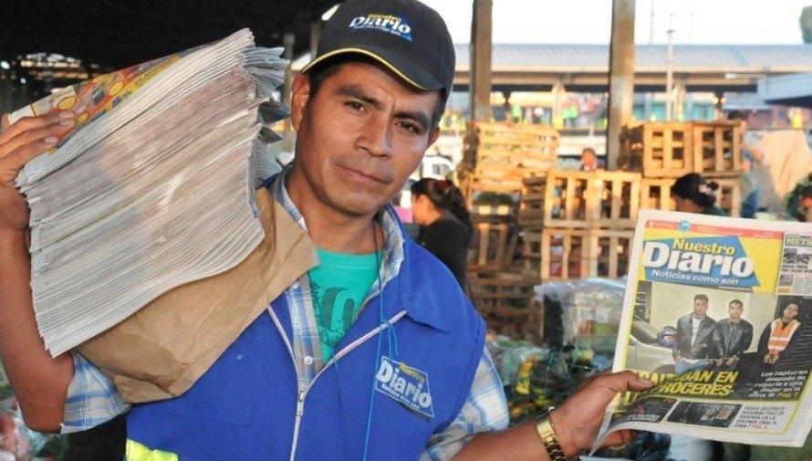 Plazas de trabajo en Clasificados que publica Nuestro Diario en 4 regiones de Guatemala