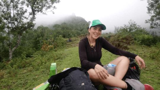 Bárbara Padilla busca alcanzar un nuevo récord Guinness en el Volcán Tajumulco