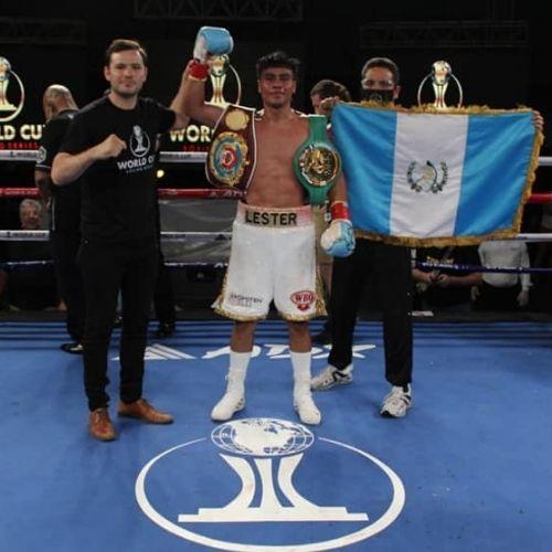 Boxeador Lester Martinez de Guatemala