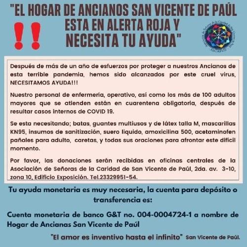Cómo se puede ayudar alHogar de Ancianos de San Vicente de Paúl