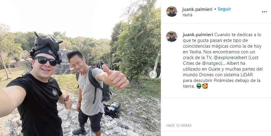 Explorador de National Geographic está en Guatemala parque nacional yaxhá nakum naranjo