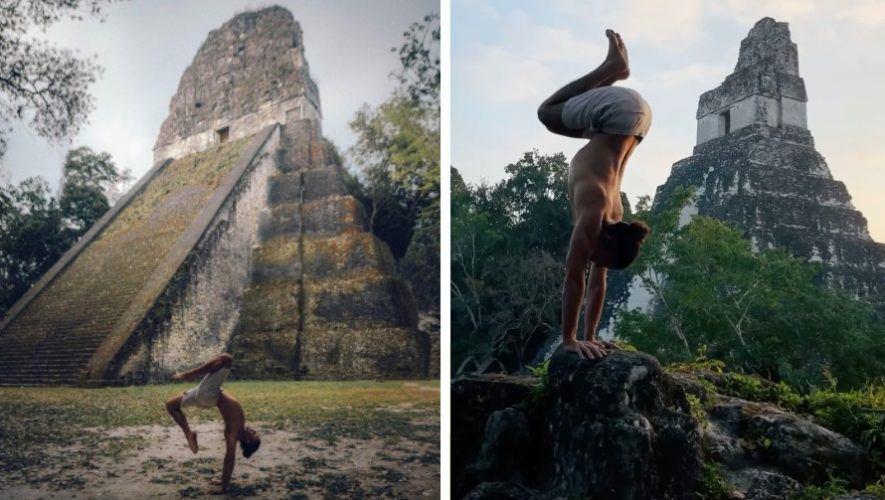 Jonah Kest, maestro de yoga estadounidense compartió fotos y video en Tikal y el Lago de Atitlán