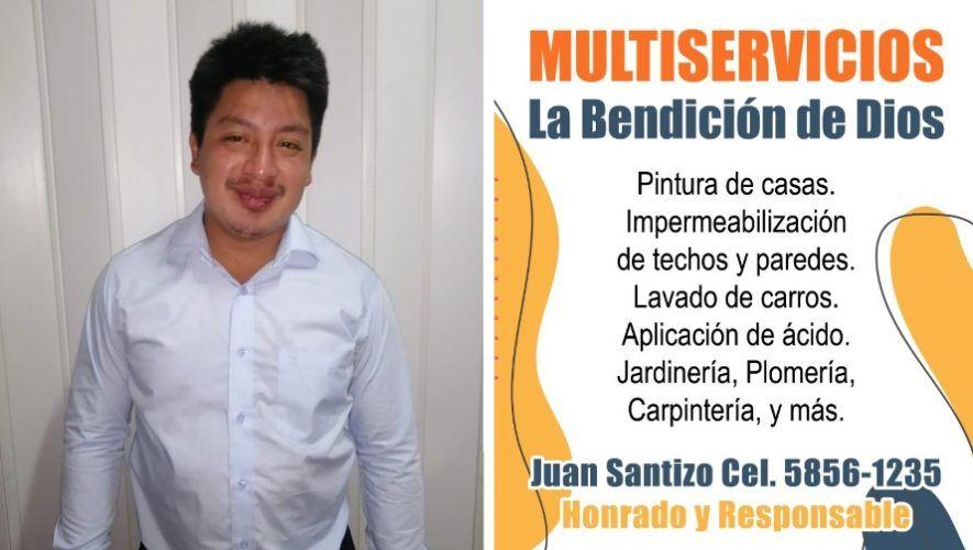 Juan Santizo, Multiservicios La Bendición de Dios, en toda Guatemala